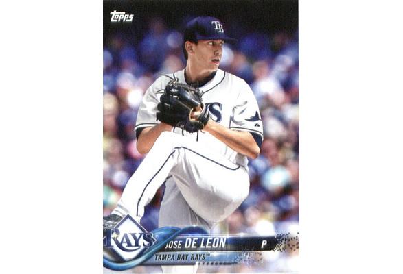 2018 Topps Factory Team Sets Tampa Bay Rays Tb 10 Jose De Leon Tampa Bay Rays Baseball Card