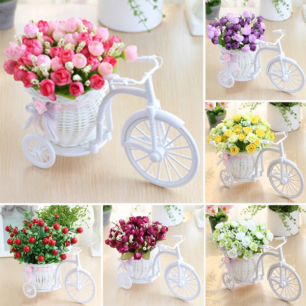 Artificial Flower Car Suit Home Decoration Decorative Pieces of Plastic  Flower Art Artificial Flower Room Display Flowers