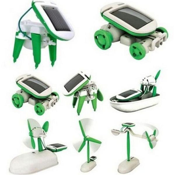 Toy, Solar, 6in1, Robot