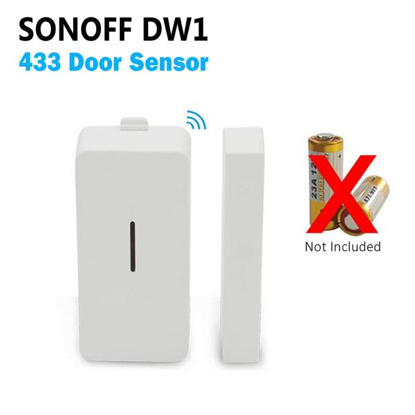 Sensor SONOFF DW1 433Mhz Door Window Sensor Compatible With RF Bridge Smart Home