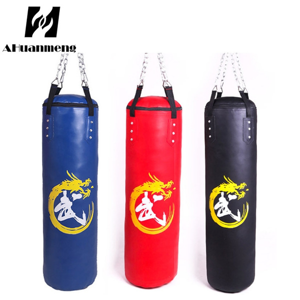 80//100//120cm Heavy Hanging Punching Kick Bag Boxing MMA Training Sandbag Empty