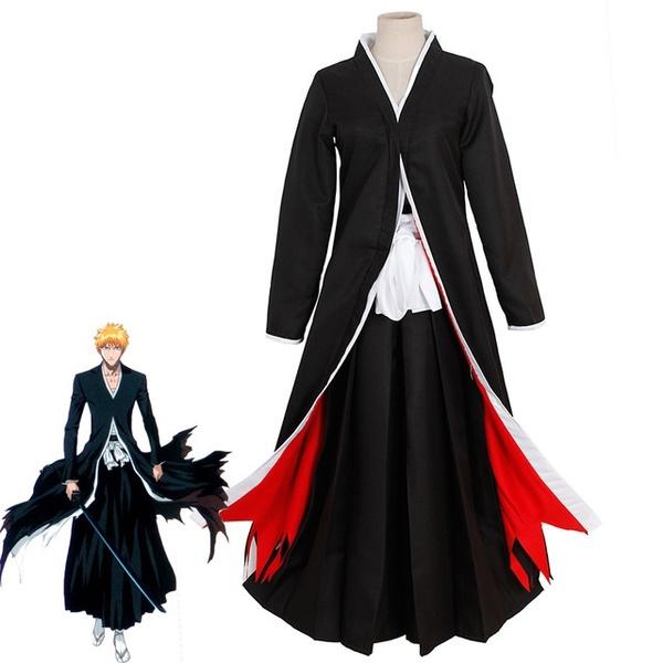 9a169d8ae Adult Men Japan Anime Kurosaki Ichigo Costume Assassin Black Wrap ...