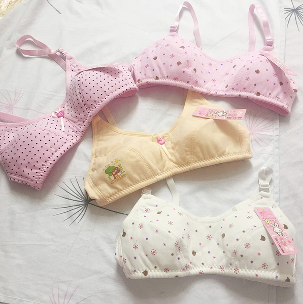 Steel, Underwear, kidsbra, Floral print