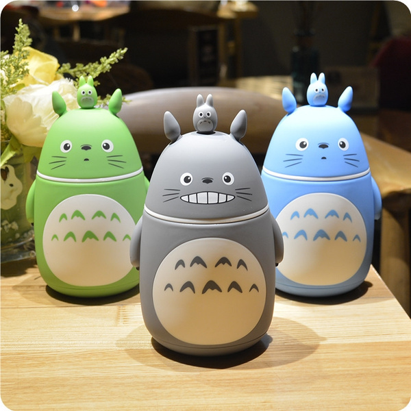 Vacuum Novelty Totoro Cup And Cute Steel Bottle Cartoon Ghibli Gifts 3d Thermos Anime Stainless Mug Creative Portable Termos TlKcFJ31