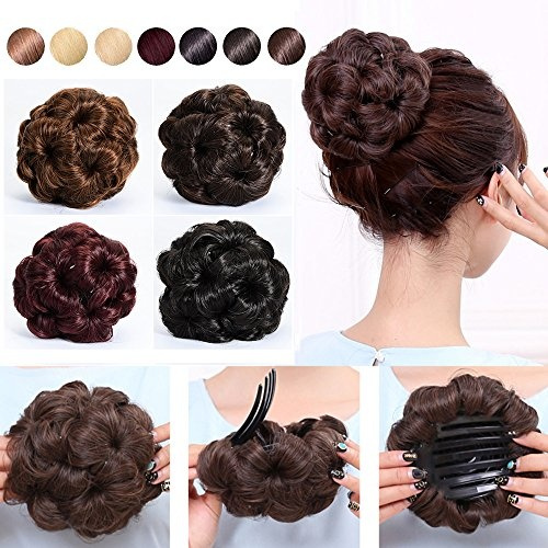 S Noilite Natural Hair Bun Maker Scrunchie Chignon Updo Tress Claw In Ponytail Pony Tail Extensions Curly Elastic Bride Synthetic Hairpieces Messy