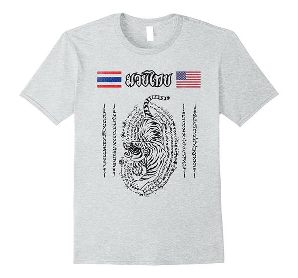 Muay Thai Thailand To Usa T Shirt Mens