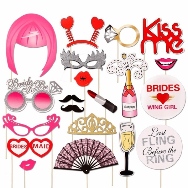 Photo Booth Weihnachten.Wedding Decoration Photo Booth Props Hen Party Team Bride To Be Photo Booth Bridal Shower Bachelorette Party Supplies