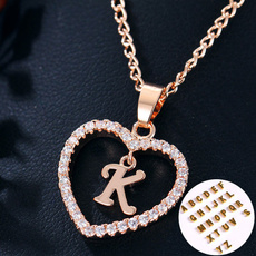 Heart, Chain Necklace, Fashion, Love