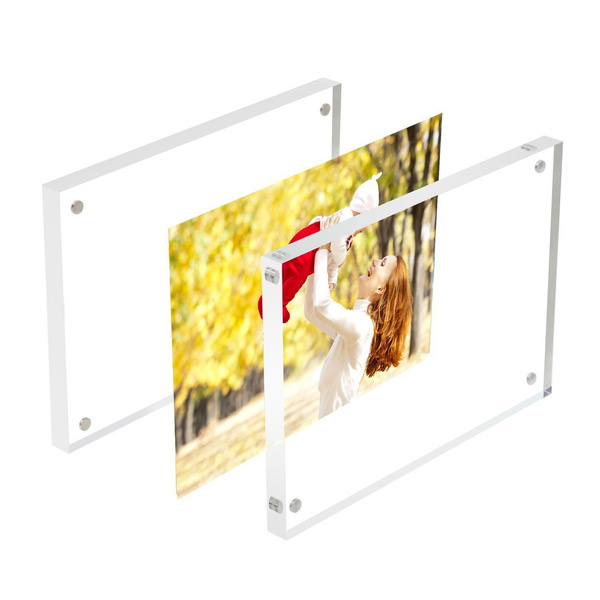 Wish 3 Pack 4x6 Acrylic Frames Clearmagnetic Photo Frame Double