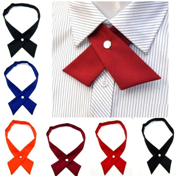 Fashion Wedding Color Polyester High Quality Cross Bow Tie Adjustable Men