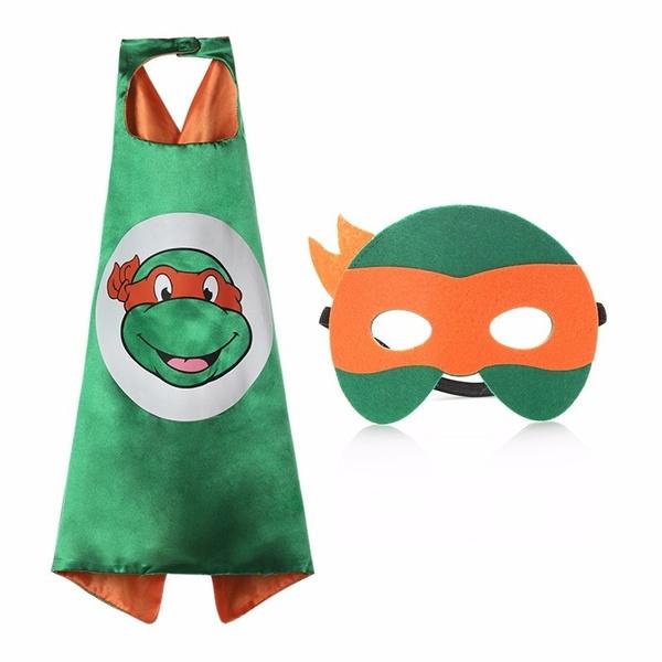 Fashion Teenage Mutant Ninja Turtles Cape Ninja Turtles Handsome Costume Boys Girls Ninja Cloak Superhero Capes And Masks Kid Childrens Cosplay