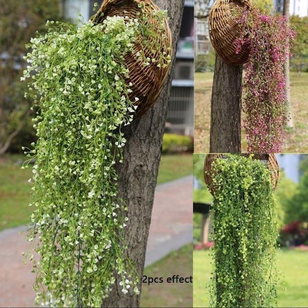Artificial Fake Silk Flower Vine Hanging Garland Plant Home Garden Decoration