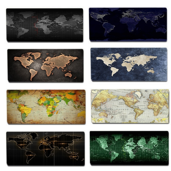 Gaming Mouse Pad Large Size Water Resistant Extended Map Mouse Mat