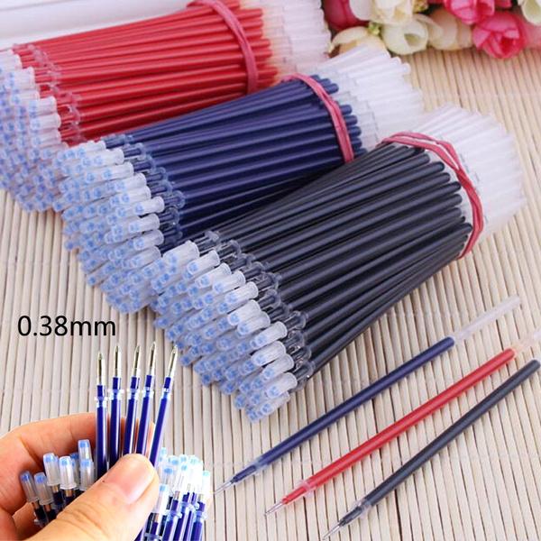 0 38mm Neutral Gel Ink Pen Set Stationery School Suppliesupplies Black Blue  Red Ink Pen Replacement Parts
