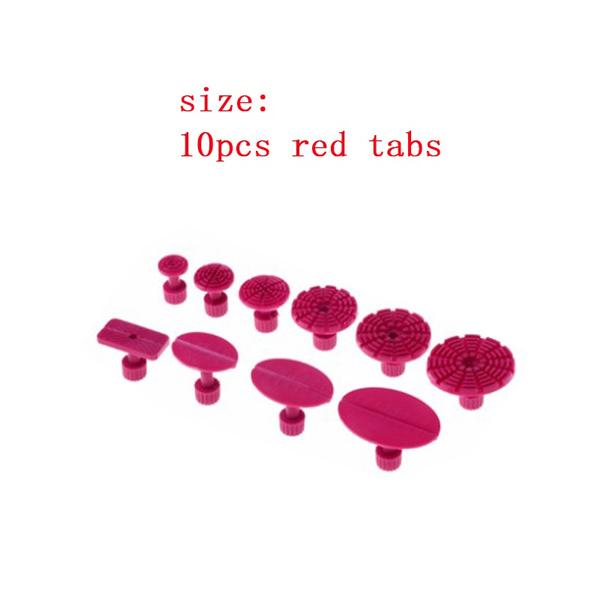 10pcs/18pcs/28pcs/ Car Paintless Dent Repair Puller tabs Plastic Glue Tabs  Removal Set Blue/Red Color tools(pluuer not included)