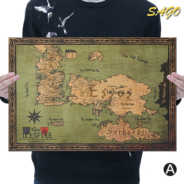 Game of Thrones Map Poster Vintage Poster/Wallpaper/Wall Art Home Bar Game Of Thrones Map Poster on game.of thrones s3 poster, silicon valley map poster, red dead redemption map poster, dark souls map poster, walking dead map poster, grand theft auto v map poster, supernatural map poster, united states map poster, community map poster, life map poster, fallout new vegas map poster, gravity falls map poster, skyrim map poster, world of warcraft map poster, hobbit unexpected journey map poster,