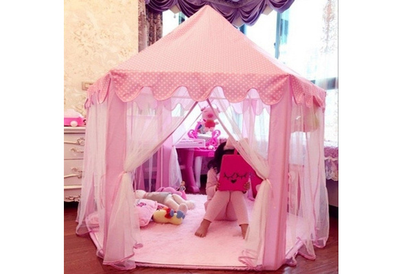 Cute Baby Kids Play Tent Portable Folding Princess Castle Tent Children Funny Play Fairy House