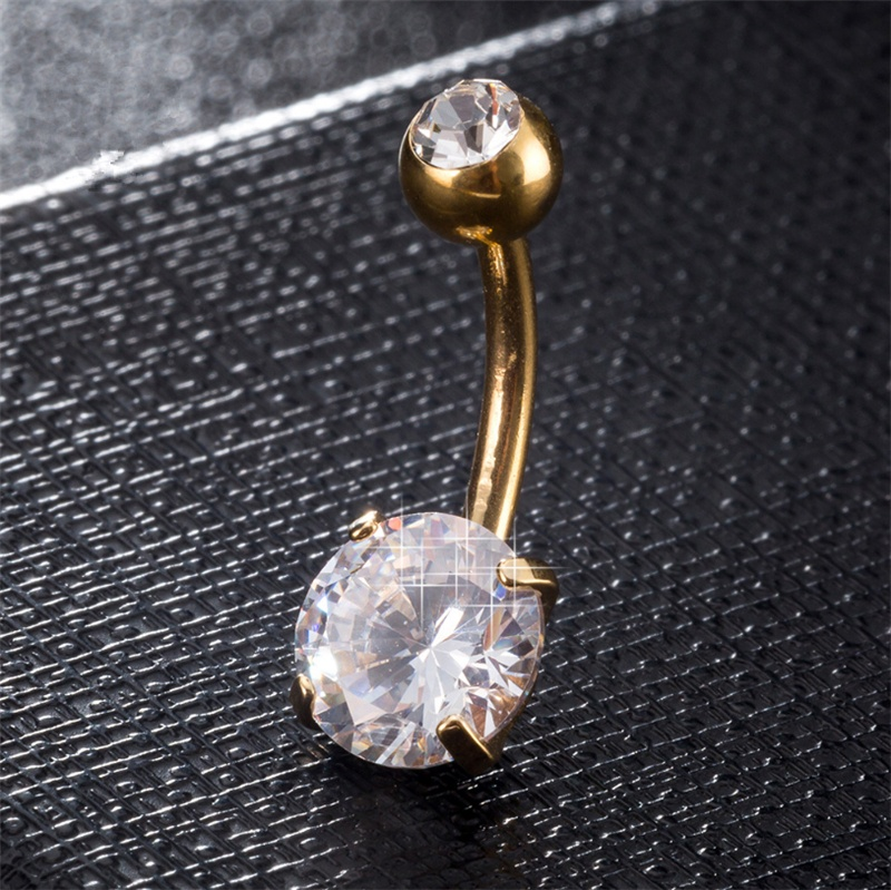 Belly Button Ring Navel Piercing Dome 316L Surgical Stainless Steel Barbell Ball