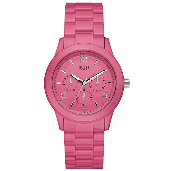 online store cfc1c 4aebe Guess Uhr W11603L4 Damen Armbanduhr Watch Farbe Rosa