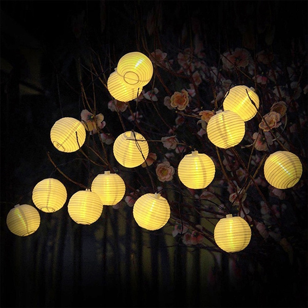 Led Solar String Chinese Lantern Lights