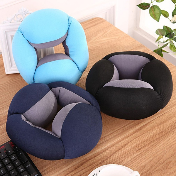 Comfortable Office Lunch Desk Break Ostrich Cushion Pillow Hollow Design Breathable Power Lazy Nap Pillow