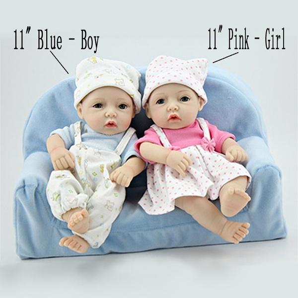 "11/""Lifelike Handmade Newborn Baby Reborn Doll Girl Gift Realistic Vinyl Silicone"