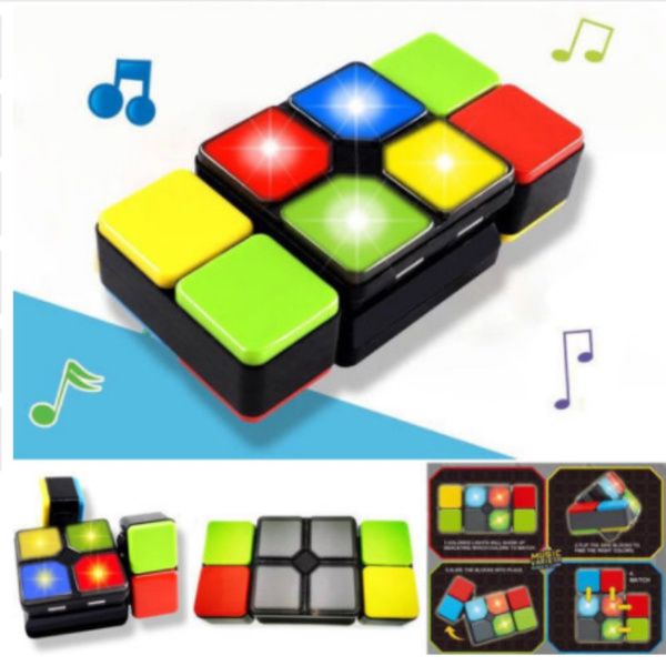 Music Cube Magic Cube Infinity Toy Spinner cubo Fidget Flip Electronics DIY  Kid Gift antistress educational toy fidget cube