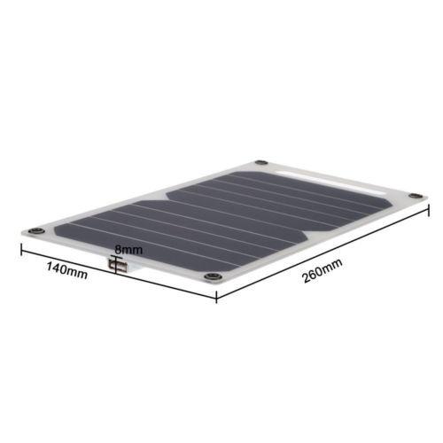 Portable 10W 5V Solar Power Ladestation USB-Ladegerät Für Samsung IPhone