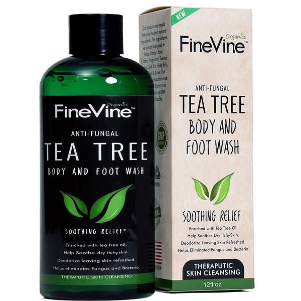 Antifungal Tea Tree Oil Body Wash - Made in USA - Helps Treat Eczema ...