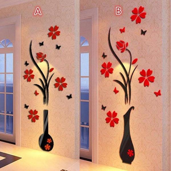 Wall Art, Home Decor, 3dwallsticker, flowervase