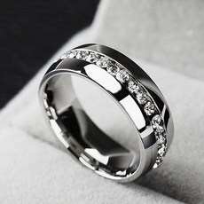 Steel, goldplated, Fashion, Women Ring
