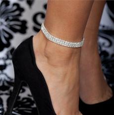 Silver Jewelry, Jewelry, Crystal Jewelry, beachanklet