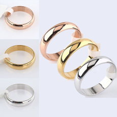 Steel, titaniumsteelringformen, plainring, wedding ring