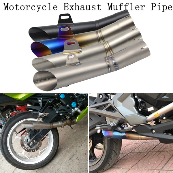 Black 35-51MM Motorcycle Exhaust Muffler Pipe Silencer Slip on for YAMAHA YZF-R6