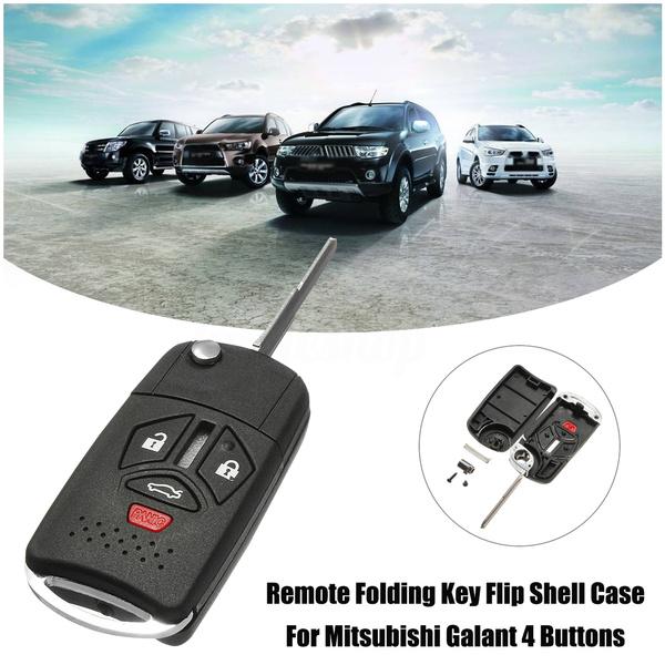 4 Button Remote Key Shell Case Folding Flip for Mitsubishi Eclipse Galant Lancer Automotive