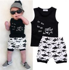 Summer, Shark, Shorts, For Boys