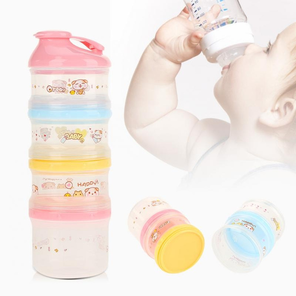 4 Layer Milk Powder Formula Dispenser Box Kids Baby Infant Feeding Container