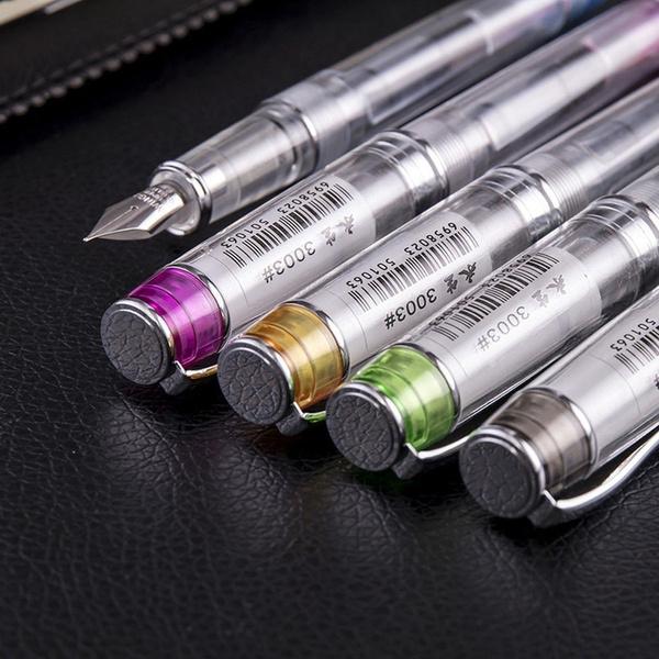 WING SUNG 3003 Iridium Point Fine Nib Fountain Pens Extra Fine 0.38 mm 5 Colors