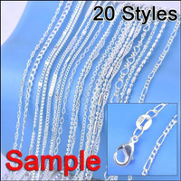 5pcs 10pcs 925 Sterling Silver Necklace Chains 16 30 Inches Wish