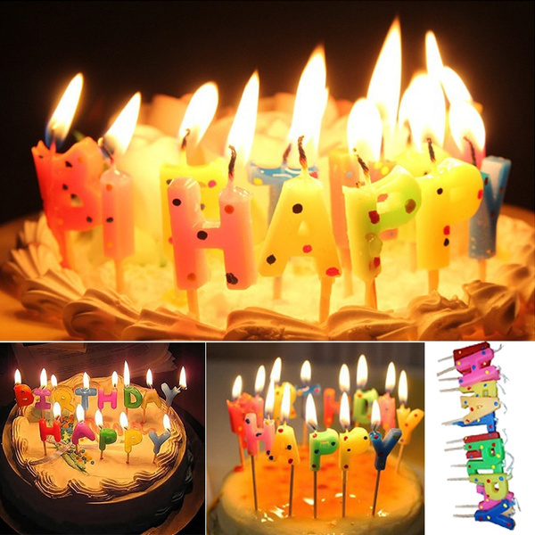 Happy Birthday Candles Drawing Number Candle Letter Candle Kids Party Birthday Decoration Wish