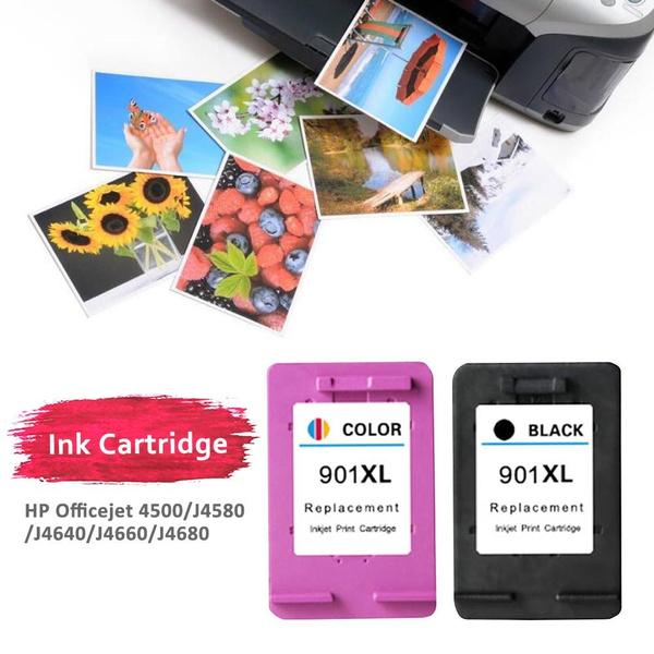 HP 901 Ink Cartridge for 4500 J4580 4640 J4680 4660 Printer Cartridges