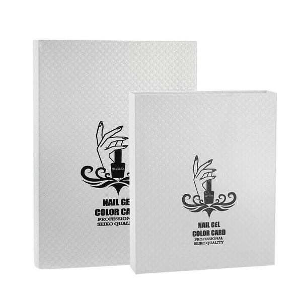 111ffaaee7 Wish | 216/120 Colors White Nail Gel Polish Display Nail Polish Color Card Chart  Nail Art Salon Set