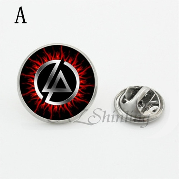 Fashion Cool Linkin Park Band Logo Charm Choker Brooch Women Men Jewelry