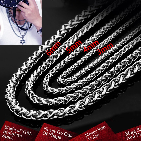 Steel, Stainless, Chain Necklace, necklaces for men