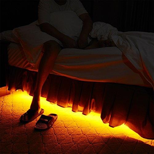 Motion Activated Bed Light Emotionlite Led Motion Sensor Bedside Light Strip Bias Lighting Bedroom Light With Automatic Off Warm White 1600k Under Bed