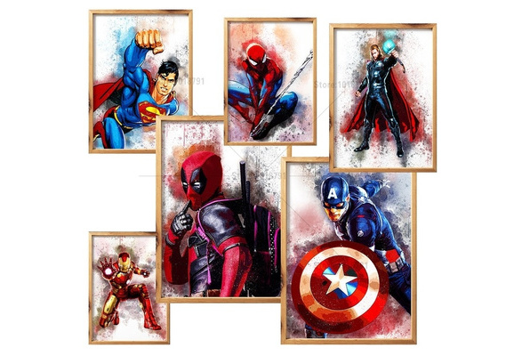 LZ 5D DIY Diamond Mosaic SUPER HERO Diamond Painting Cross Stitch cartoon Kits Diamond Embroidery Patterns Rhinestones Arts