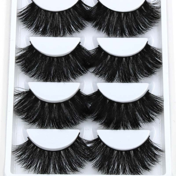 Wish 5 Pairs Super Thick Mink False Eyelashes Party Decor Stage