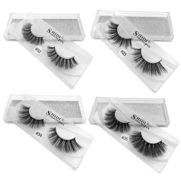 Wish Natural Long Mink Eyelashes 3d Fake Eyelashes Handmade Mink