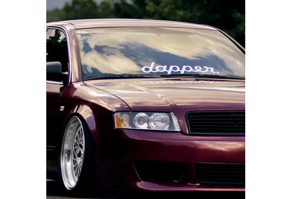 Dapper Styling White Sticker Decals Car Front Rear Windshield Window Door Decor