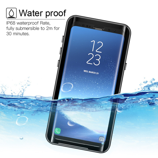 the best attitude 5f445 29f21 For Samsung Galaxy S9 Waterproof Case Shockproof Transparent Back Cover  Protector For Samsung Galaxy S9 Plus Dirtproof Case